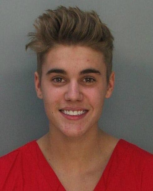 Justin Bieber was arrested after police stopped him for allegedly drag racing his Lamborghini in Miami. (Source: Miami-Dade Police Department)