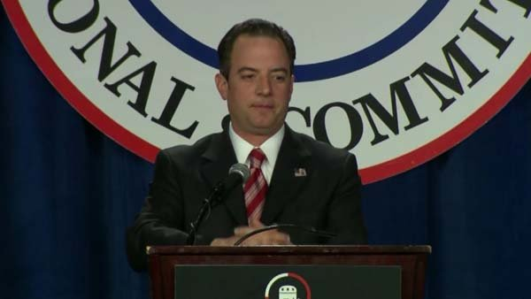 Reince Priebus, chairman of the Republican National Committee, runs the party's winter meeting. (Source: CNN)