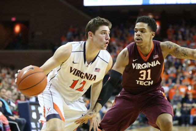 Joe Harris (12) and the Virginia Cavaliers have been winning big, including a 65-45 win over Virginia Tech on Saturday. (Source: Dillon Harding/VirginiaSports.com)