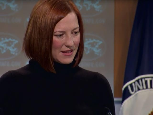 The State Department's Jen Psaki said Kerry has a record of backing Israel. (Source CNN)