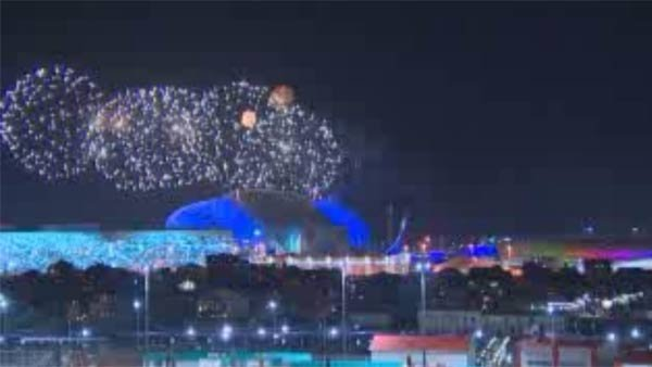 Opening ceremony fireworks rehearsal took place in Sochi on Tuesday. (Source: CNN)
