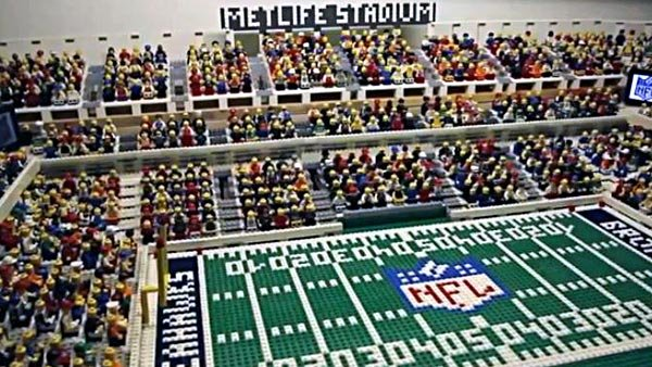 The Guardian recreated Super Bowl XLVIII using Legos, something the newspaper often does with large sporting events. (Source: The Guardian/YouTube)