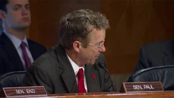 Sen. Rand Paul's gun amendment to postal reform bill was defeated in committee. (Source: POOL/CNN)