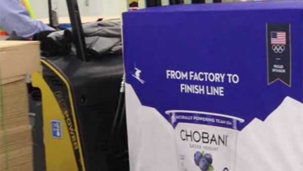 U.S. Olympic sponsor Chobani can't ship product to Sochi due to trade dispute. (Source: CHOBANI/CNN)