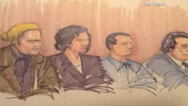 "The ""NATO 3"" acquitted of terrorism, convicted on lesser charges. (Source: TOM GIANNI/CNN)"