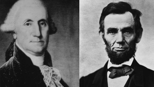 George Washington and Abraham Lincoln are admired as pivotal figures in American history. (Source: MGN Onlin