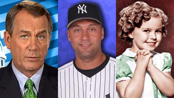 A debt ceiling deal, Derek Jeter's retirement announcement and Shirley Temple Black's death all made headlines this week.