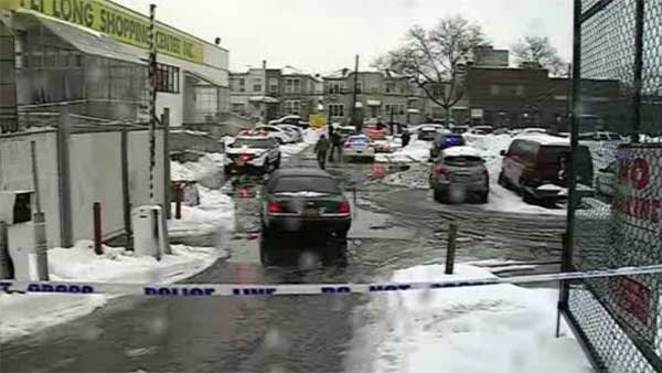 A pregnant woman was killed after being struck by snow plow in a parking lot; doctors managed to save baby. (Source: NY1/CNN)