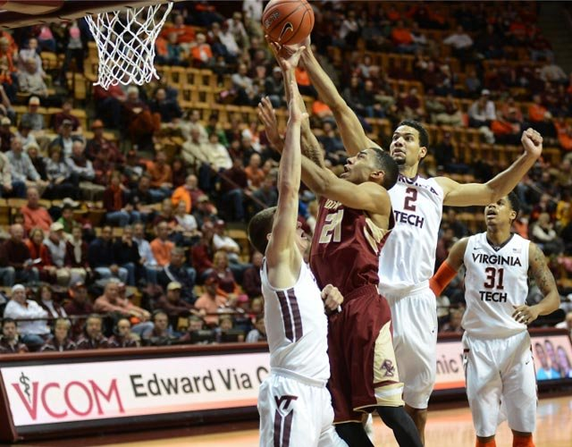 Olivier Hanlan (21) and the Boston College Eagles did something Wednesday that hadn't been done since 1955. (Source: HokieSports.com)