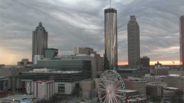 A rare cloud formation took over the Atlanta skyline Tuesday. (Source: CNN)