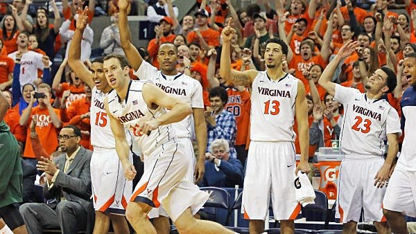 If the Cavaliers take care of business, they'll have a lot more to celebrate after the final buzzer sounds against Syracuse. (Source: Matt Riley/VirginiaSports.com)
