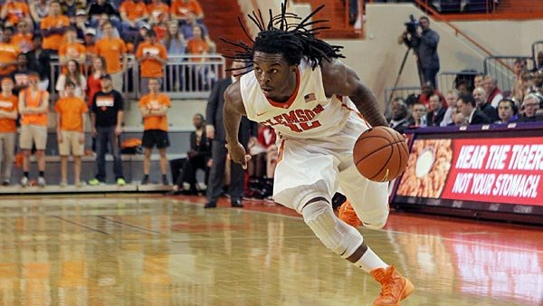 Point guard Rod Hall is the second-leading scorer for Clemson, but he - like everyone else on the roster - plays in K.J. McDaniels' shadow. (Source: Rex Brown/Clemson Athletics)