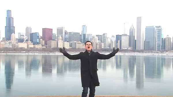 Dan Ponce of WGN in Chicago used the endless winter as a reason to sing his own version of Let It Go. (Source: Dan Ponce/YouTube)