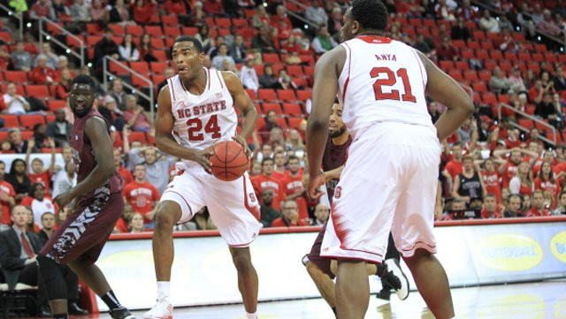 T.J. Warren (24) and the NC State Wolfpack hope to go from First Four to