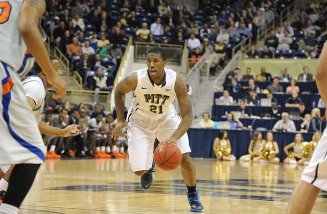 Lamar Patterson (21) leads ninth-seeded Pittsburgh into an NCAA tournament showdown with No. 1 seeded Florida on Saturday.(Source: Pitt Athletics)