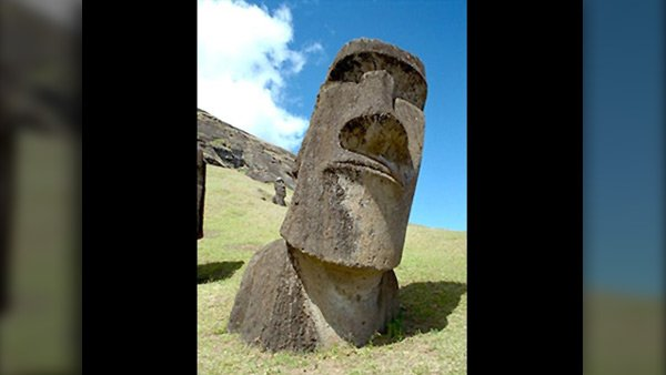 The civilization at Easter Island is an example of a group that died out because natural resources were depleted. (Source: MGN photos)