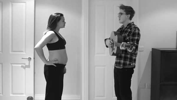 Tom Fletcher, of McFly, used time-lapse photographs to detail his wife's pregnancy in his newest music video. (Source: Tom Fletcher/YouTube)