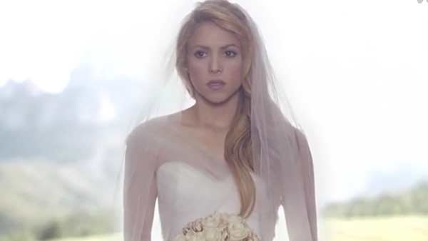 Shakira skips the chapel in her new video for 'Empire.' (Source: YouTube/ShakiraVEVO)