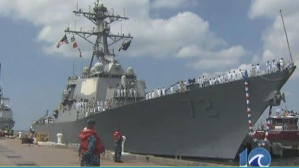 Two died aboard the USS Mahan late Monday night. (Source: WAVY/CNN)
