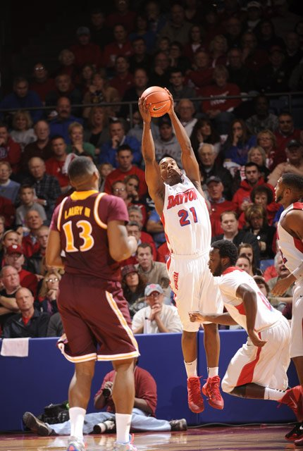 Dyshawn Pierre and the Dayton Flyers face the Stanford Cardinal in the first game of the