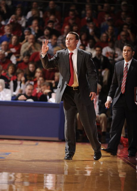 Dayton Flyers coach Archie Miller has his team on the verge of the Final Four, although No. 1 seed Florida may have something to say about that. (Source: Erik Schelkun, Elsestar Images/Dayton Athletics)