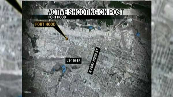 A map of Fort Hood, TX. (Source: CNN)
