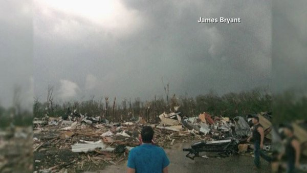 Mayflower, AR, was the site of massive damage Sunday. (Source: James Bryant/CNN)