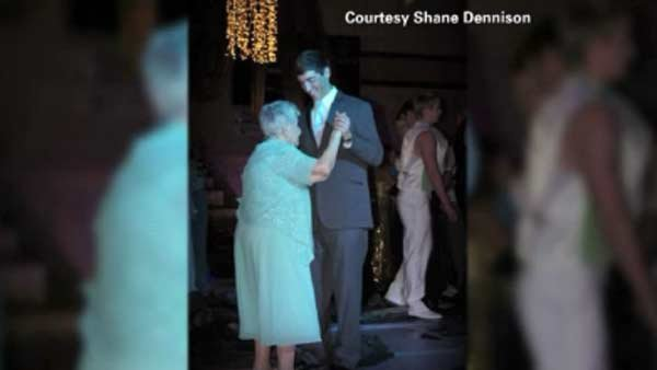 Austin Dennison asked his great grandmother, Delores Dennison, to the senior prom. (Source: Shane Dennison/CNN)