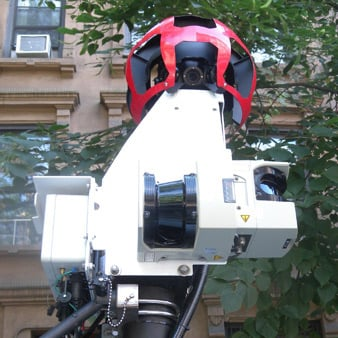 The Google Street View camera takes panoramic photos. (Source: Jim Henderson/Wikimedia Commons)