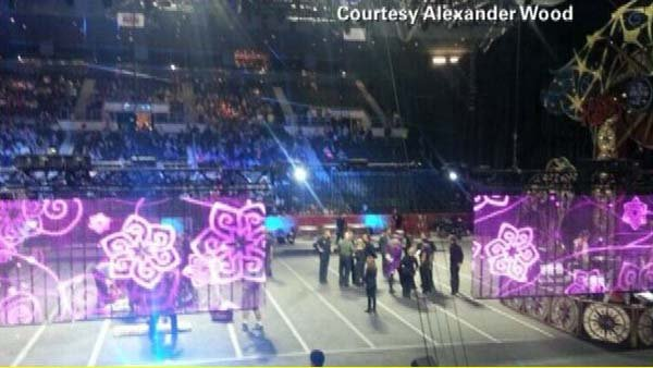 Nine circus performers are injured in a mishap during a hair-hanging routine. (Source: CNN)