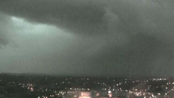 Storms roll over Omaha, NE, on Sunday. (Source: KETV/CNN)