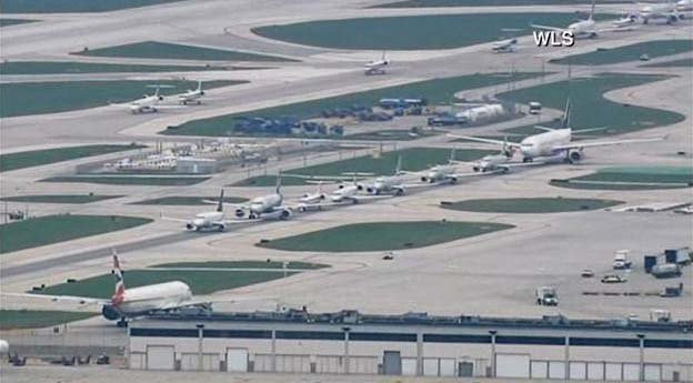 More than 600 flights are canceled at O'Haire International Airport and 75 at Midway in Chicago. (Source: WLS)