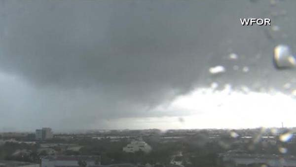 The National Weather Service cancels tornado warning in Miami. (Source: WFOR/CNN)