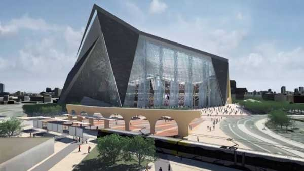 The Minnesota Super Bowl Committee released a video showcasing the new planned stadium in Minneapolis set to open in 2016. (Source: Minnesota Super Bowl Committee/CNN)