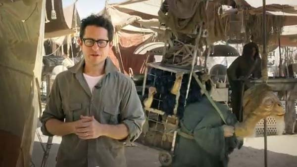 J.J. Abrams and a friend announce a contest that could land a Star Wars fan in the new movie. (Source: YouTube/Star Wars)