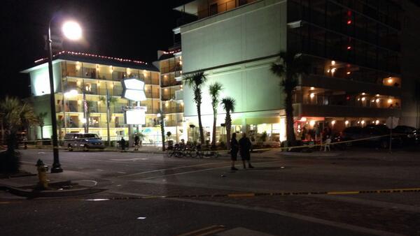 Crime scene investigators are still processing Myrtle Beach, SC crime scene Sunday morning. (Source: WIS TV)