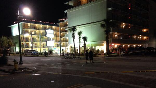 Crime scene investigators are still processing Myrtle Beach, SC crime scene Sunday morning. (Source: WIS TV)