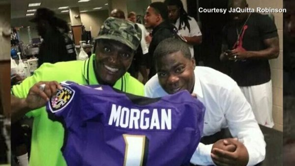 James McNair, also known as Jimmy Mack, is shown with Tracy Morgan. McNair died Saturday in the wreck that injured Morgan. (Source: JaQuitta Robinson/CNN)