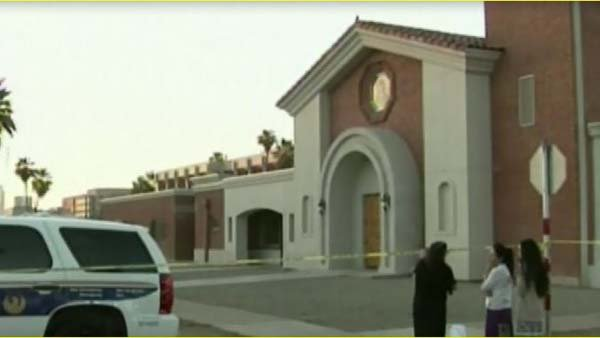 A priest was killed and another one injured in an attack at a Catholic church in Phoenix. (Source: KPHO)