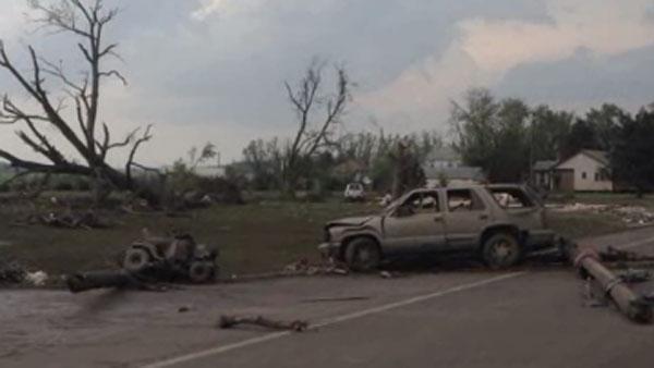 Two long-track tornadoes touched down in Nebraska Monday. (Source: KTIV/Norfolk News Bureau/CNN)