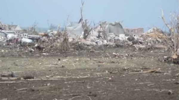 Tornado damage in Pilger, NE on Monday. (Source: KITV/CNN)