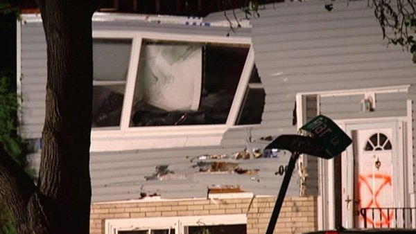 Homes in Madison, WI, were extensively damaged by severe weather overnight. (Source: WISC/CNN)