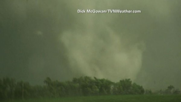 A vortex was spotted swirling near Alpena, SD. (Source: Dick McGowan/TVNWea