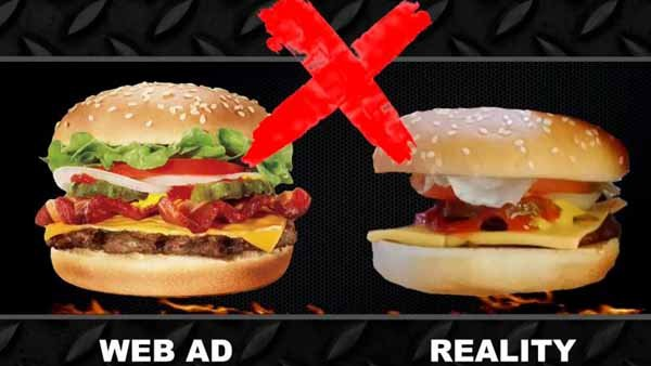 Fast food items don't really live up to the pictures in their ads, but you can get pretty good results by asking them to remake it. (Source: MediocreFilms/YouTube)