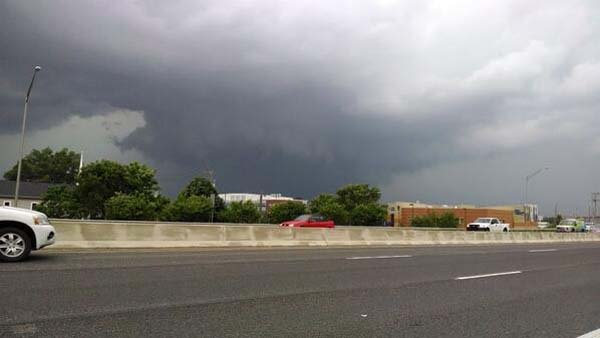 A funnel cloud was seen near Indianapolis on Tuesday. (Source: Jimmy Baker/@boomcicle/Twitter)