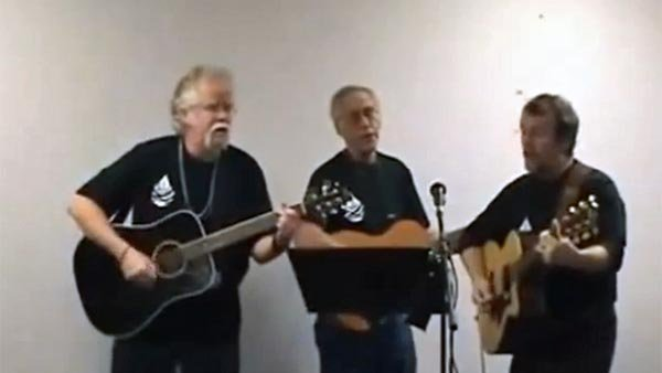 These three amigos haven't let a federal work stoppage get their spirits down. (Source: LostWaterBoyz/YouTube)