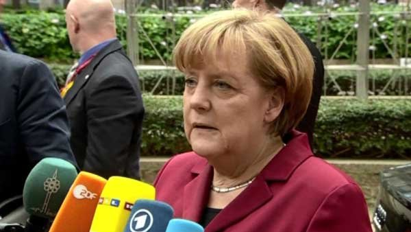 "German Chancellor Angela Merkel says that trust between the U.S. and Europe must be 'reestablished.""  (Source: CNN)"