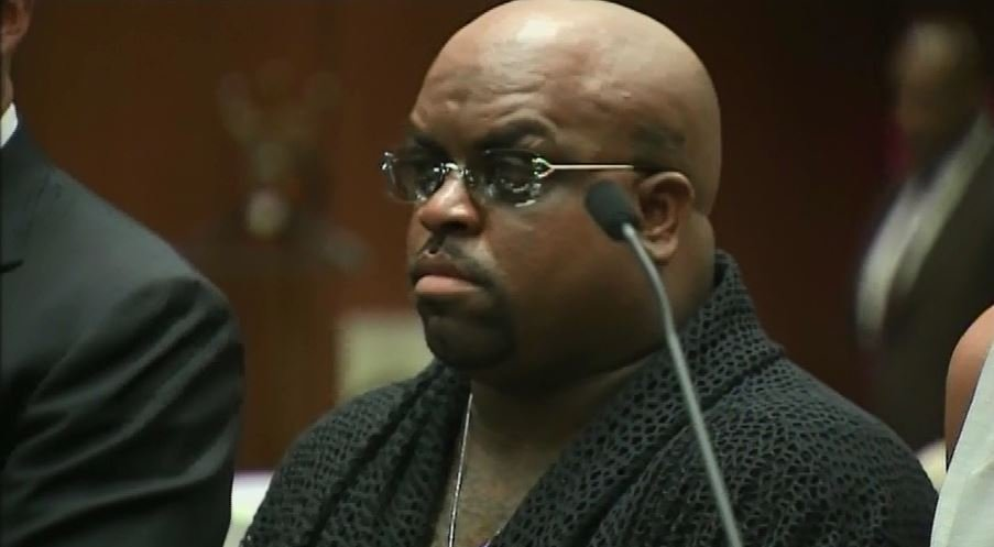 Ceelo Green in an LA court facing a drug charge. (Source: CNN)