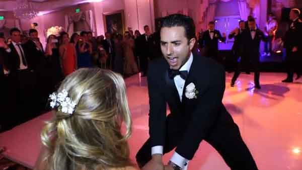 Finding an entire group of groomsmen who can groove in rhythm with each other is no small feat, so the dance routine one groom put on for his bride at their wedding reception is truly epic.