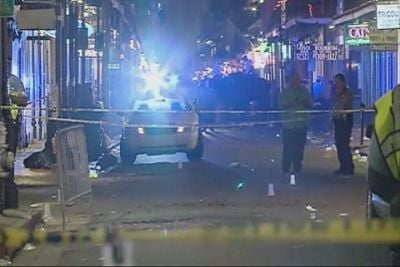 Nine people were injured during a shooting on Bourbon Street in New Orleans Sunday. (Source: WVUE)